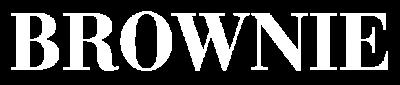 logo brownie png blanco